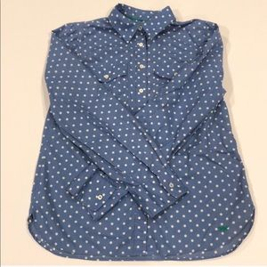 Talbots Polka Dot Button Down